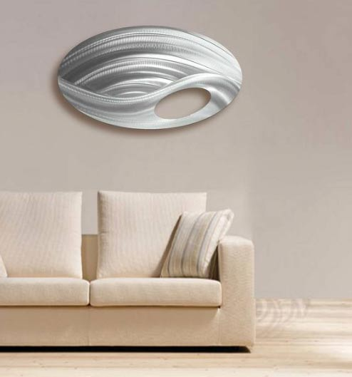 """HipHop 1"" Oval Single Panel Metal Wall Art"